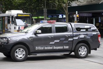 """Victoria Police says the CIRT fleet is constantly reviewed to ensure vehicles are """"fit for purpose""""."""