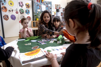 Almost all of the kindergarten's 270 children spend 7.5 out of their weekly 15 hours on play-based activities in Punjabi.