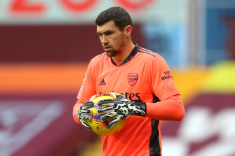 Mart Ryan on debut for Arsenal earlier this year.