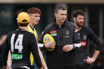Fremantle are keen on Collingwood assistant Justin Longmuir.