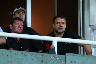 South Sydney co-owners James Packer and Russell Crowe in 2013.