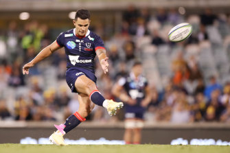 Matt To'omua racked up the points or the Rebels but it wasn't enough.