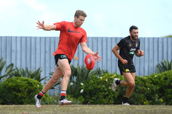 Risky business: The Saints could bring Dan Hannebery back for round 18, his first appearance since round five.