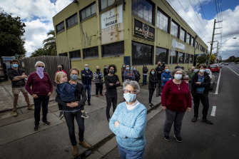 Andrea Bunting and fellow Brunswick locals are opposed to the Bunnings plans.