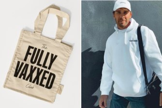 Tote. Modern bag and actor Hugh Sheridan wearing a hoodie from Melbourne label Vaxxed.