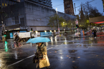 Melbourne woke up to a very wet first day of winter.