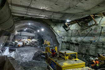 Inside the Metro Tunnel.