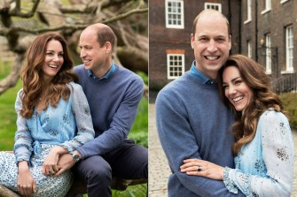 Two portraits of William and Catherine released this week for their 10th wedding anniversary.