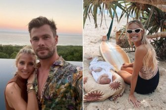Influencers like Elyse Knowles (right) and actors Elsa Pataky and Chris Hemsworth (left) took Byron's name and stunning scenery global.