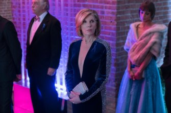 Diane Lockhart (Christine Baranski, centre) wakes up in a parallel America the morning after the 2016 US election in the new season of The Good Fight.