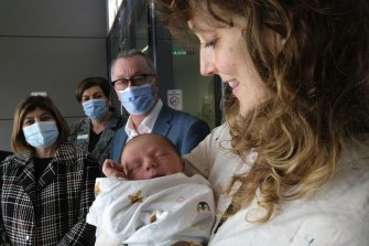 Health Minister Martin Foley announced new funding for 175 extra maternity staff on Friday.