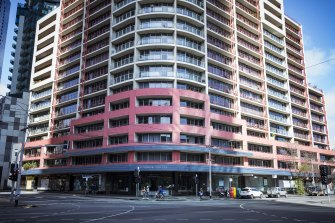 The apartment building at 83 Queensbridge Street, Southbank.