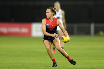 Karen Paxman in action during round six against Carlton in March.