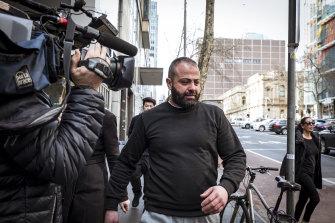 Underworld figure Nabil Maghnie leaves court last July.