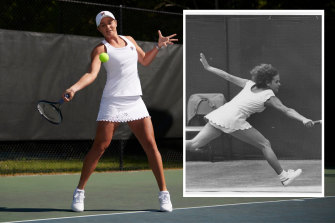 World number one Ash Barty (main) will wear an outfit inspired by Evonne Goolagong's 1971 winning ensemble.