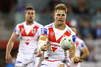 Jack de Belin was named as Dragons skipper on the original team sheet submitted to the NRL on Tuesday.
