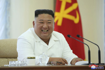 Kim Jong-un in June. Rumours of his ill health surface regularly.