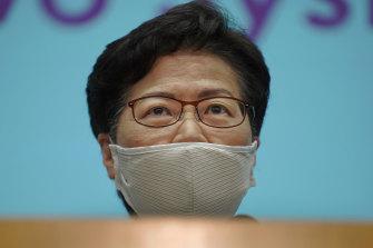Hong Kong Chief Executive Carrie Lam.