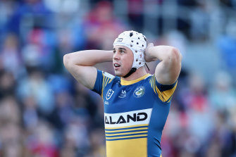 Reed Mahoney was hurt long after the Eels had banked the two competition points.