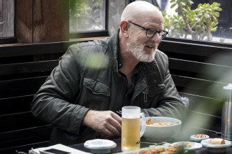 Peter Berner at Korean restaurant Mahn Doo.