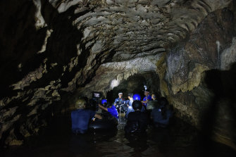 Filming for Tom Waller's 'The Cave', pictured here in November 2018, took place on location in Thailand.
