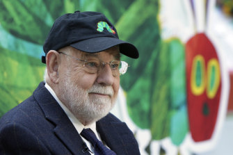 Children's author Eric Carle, pictured in 2008, originally wrote about a hungry worm, but changed it to a caterpillar on his editor's advice.