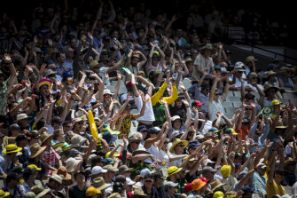 Crowds pack out the MCG during last year's Test.