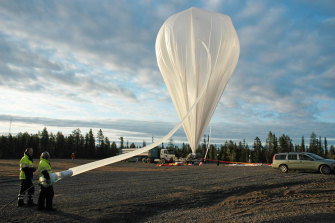 A NASA balloon launch from theSwedish Space Corporation site.