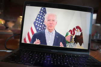 Joe Biden holds a virtual campaign event. The presumptive Democrat presidential nominee is reaching out to voters to keep the momentum up during the coronavirus pandemic.