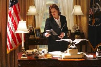 Geena Davis as Mackenzie Allen in Commander in Chief.