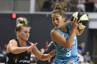 Leilani Mitchell (right) was named grand final MVP.