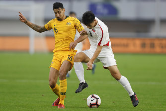 Gabriel Cleur playing for the Olyroos last year. He plays for a team in Alessandria which is under lockdown due to the coronavirus pandemic.