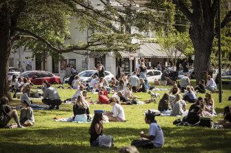 Melburnians enjoying a picnic recently.