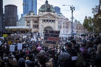 Thousands marched the streets of Melbourne to protest Indigenous deaths in custody and to stand in solidarity with George Floyd.