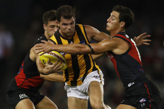 Hawthorn's Jaeger O'Meara. The Hawks will have salary cap space to play with in 2022.