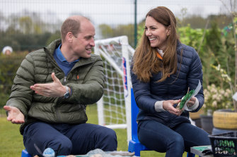 Puffers fit for a king (and queen) ... The Duke and Duchess of Cambridge in coordinating jackets.