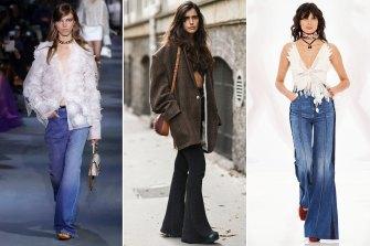 Jeans of the season: Valentino runway spring 2022; Street style at Paris Fashion Week; Zimmermann spring 2022.