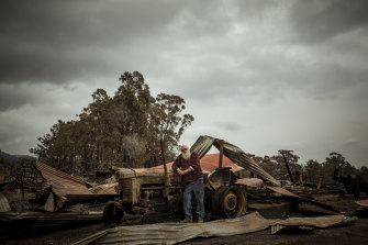 Brian Blakeman managed to save his Wairewa home, but surrounding buildings were destroyed.