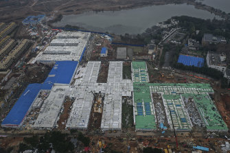 The hospital built to treat coronavirus patients has been completed in in Wuhan, China.
