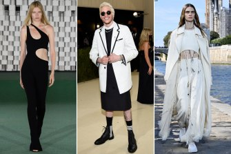 Breaking the rules. These looks won't make it into the Members Stand: Stella McCartney runway; Pete Davidson at The Met Gala; Chloe runway.