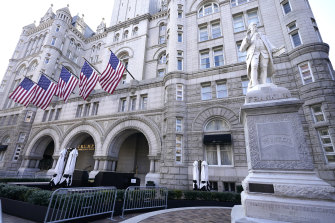 The Trump International Hotel on Pennsylvania Avenue in Washington DC.