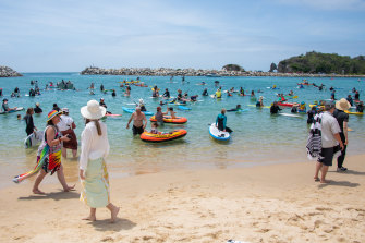 Narooma's paddle-out may not be the last, with more consultation on the marine park amnesties due within weeks.