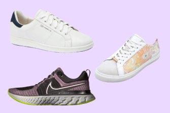 Clockwise from top left: Frankie4 JACKiE III; Bared Footwear Hornbill Lakkari; and Nike React Infinity Run 2.