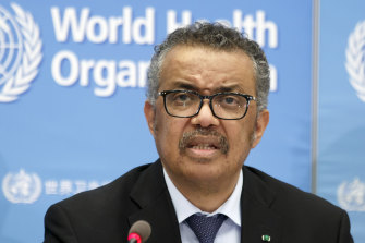 Who director-general Tedros Adhanom Ghebreyesus.