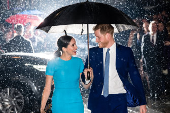 """Hopefully it was a 'yes', if it's not, or it wasn't, then this is kind of awkward,"" says Prince Harry, Duke of Sussex, in the first episode of his new podcast, with his wife Meghan, while interviewing a man who said he's proposed to his girlfriend."