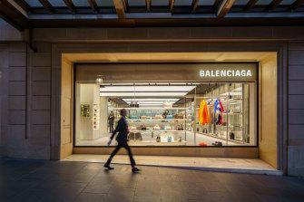 Balenciaga's flagship store on Collins Street.