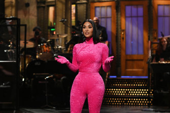 Kim Kardashian West spares no-one during her monologue on Saturday Night Live.