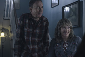 David Thewlis and Toni Collette in a scene from I'm Thinking of Ending Things.