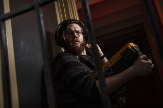 Escape artist: Melbourne actor Matt Carson guides people through Isolation, an online escape room experience where teams gather to solve puzzles together.