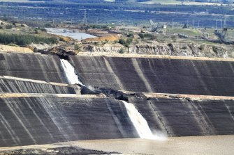The flooded Yallourn mine in 2012.